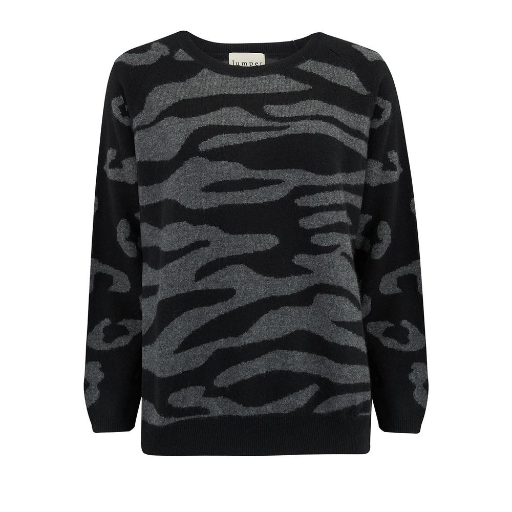 Wild Striped Jumper - Black & Grey