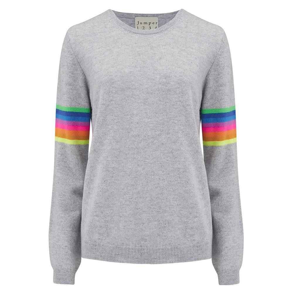 Mexican Stripe Jumper - Mid Grey