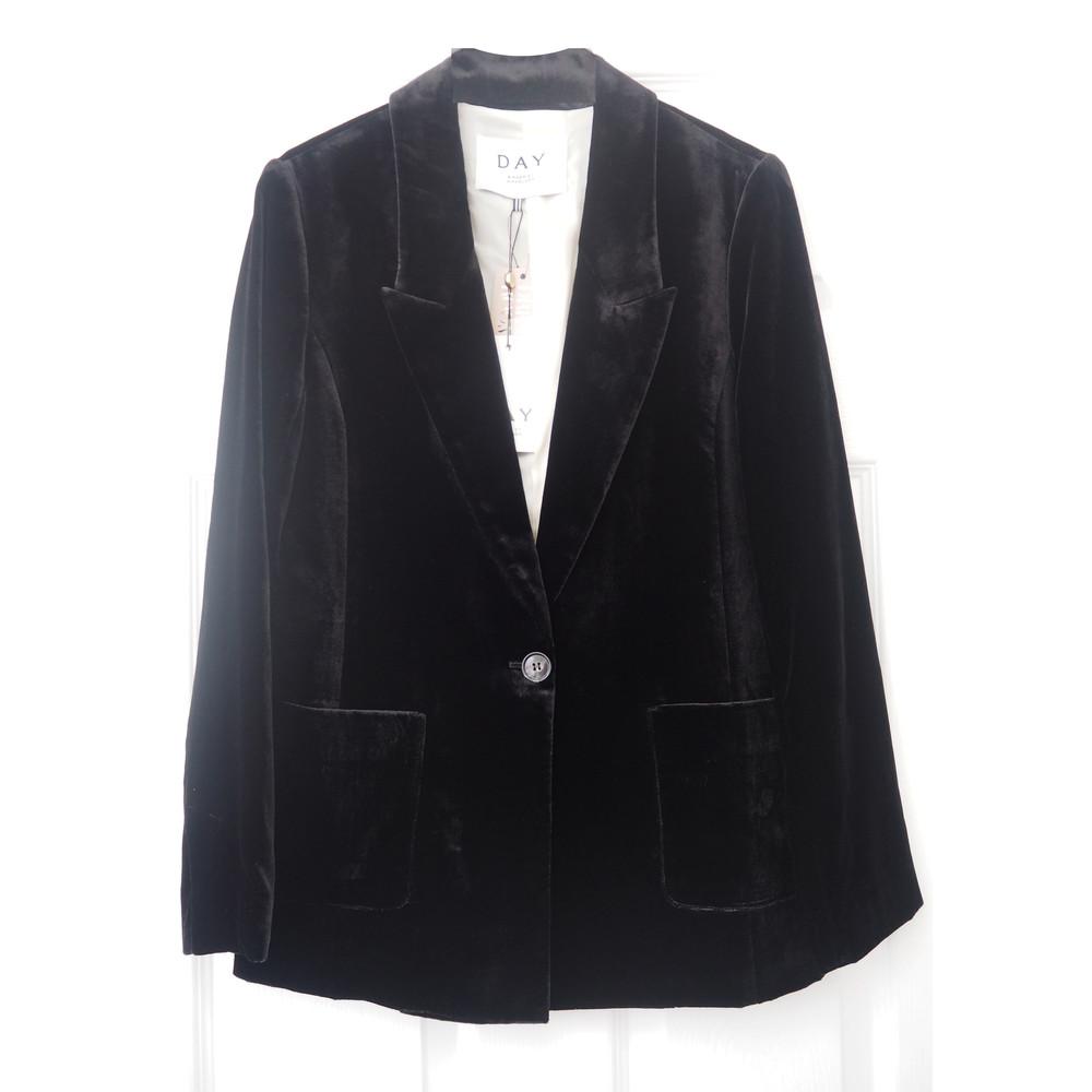 Day Tactile Velvet Blazer - Black