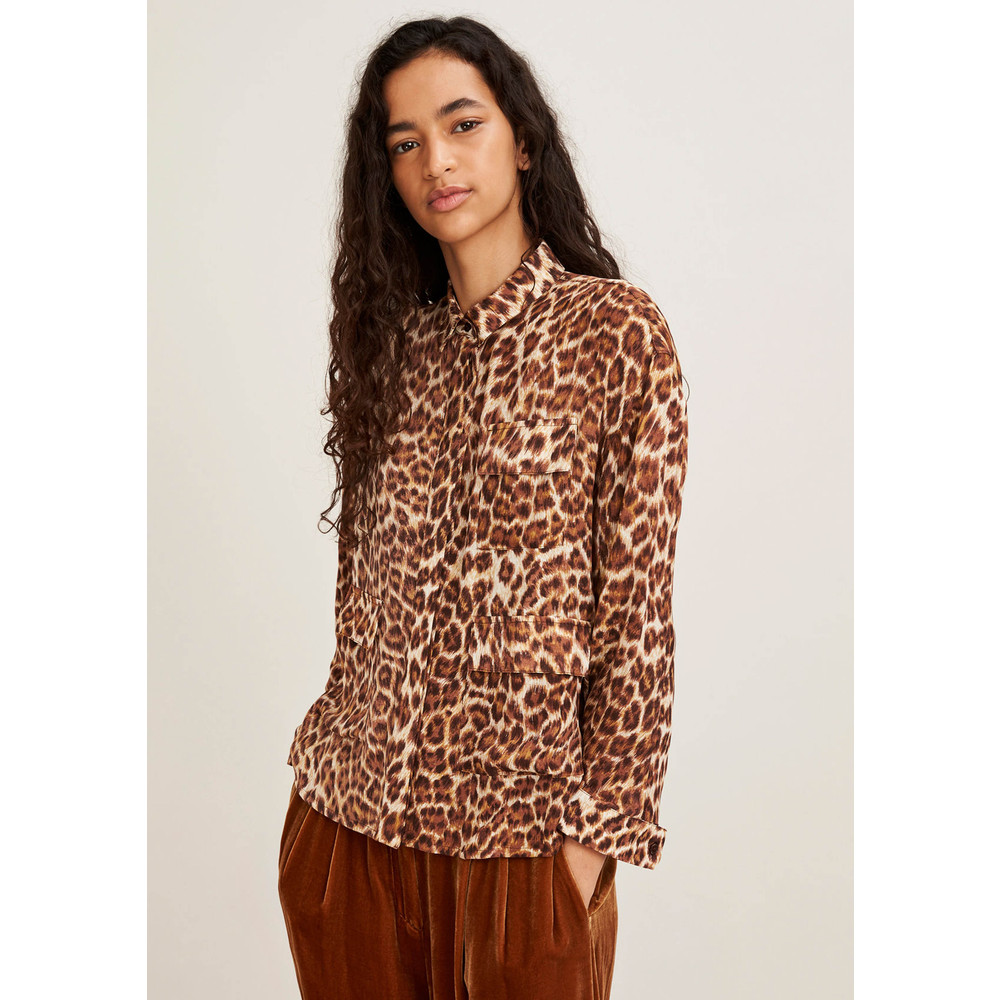 Ilona Silk Shirt - Leopard