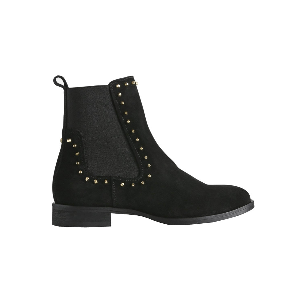Marla Studs Suede Chelsea Boots - Black