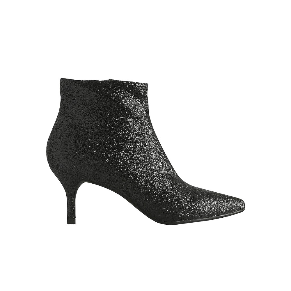 Abby Glitter Boot - Black