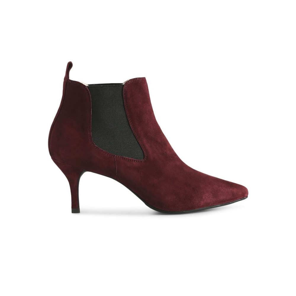 Agnete Suede Boots - Burgundy