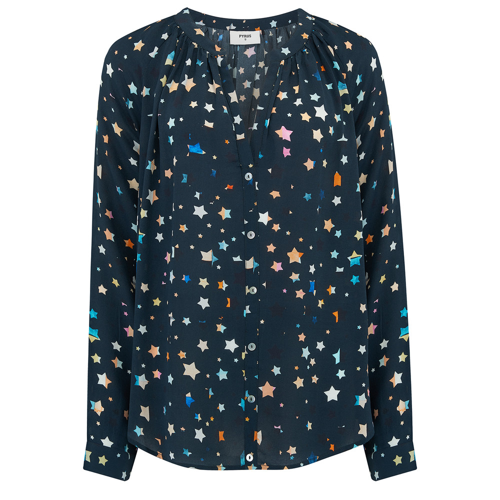 Nova Silk Blouse - Painted Stars