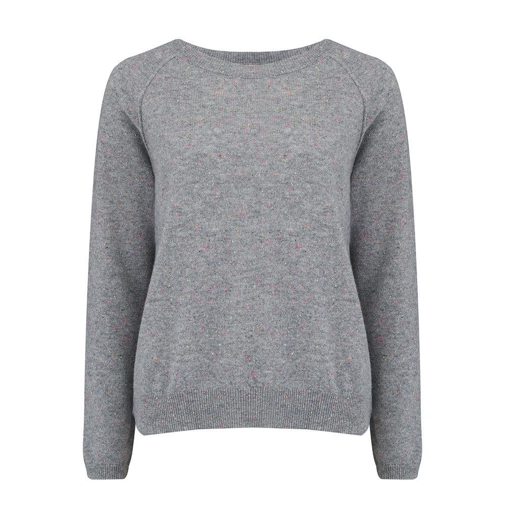 Donegal Sweater - Mid Grey