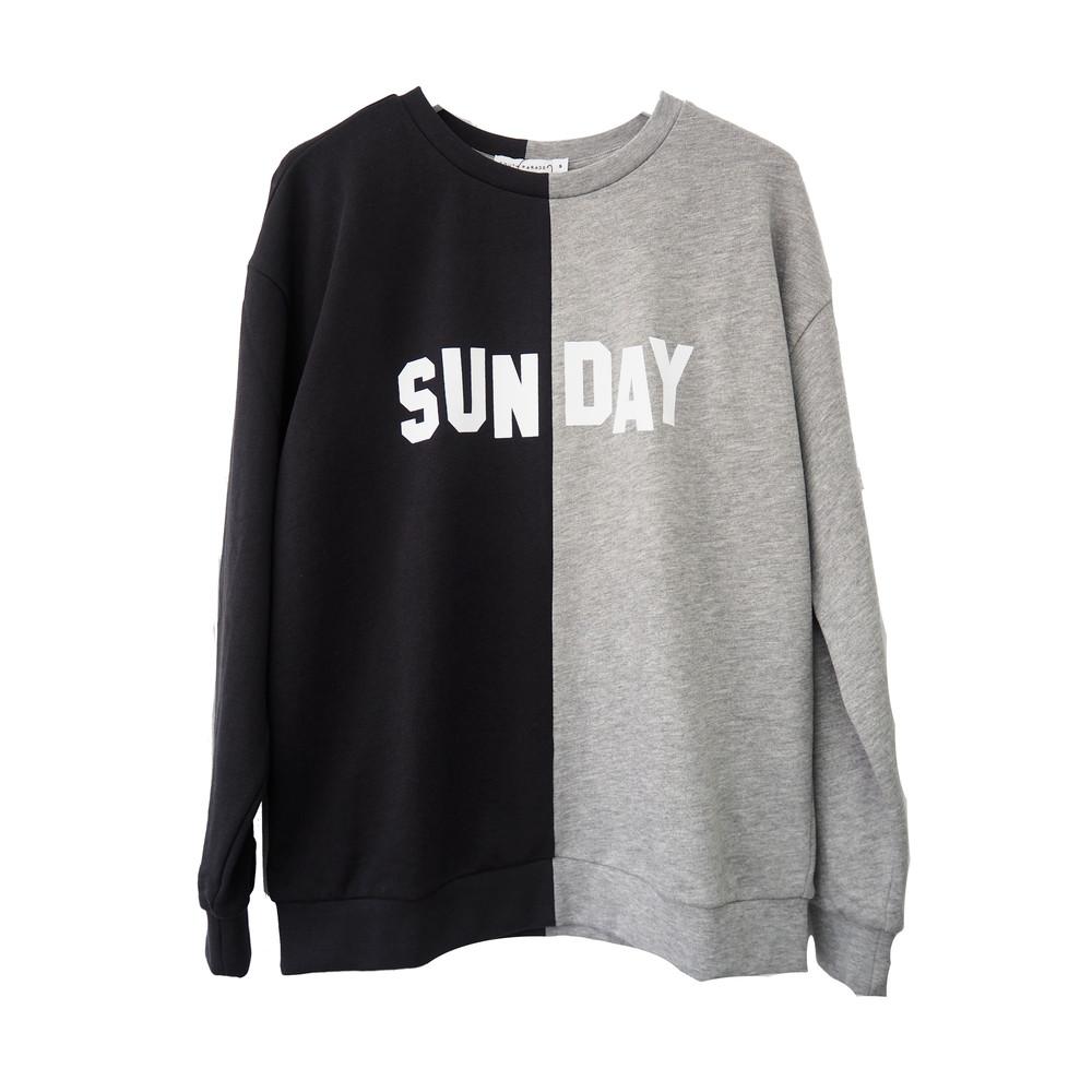 Alexa Boyfriend Sunday Sweatshirt - Grey