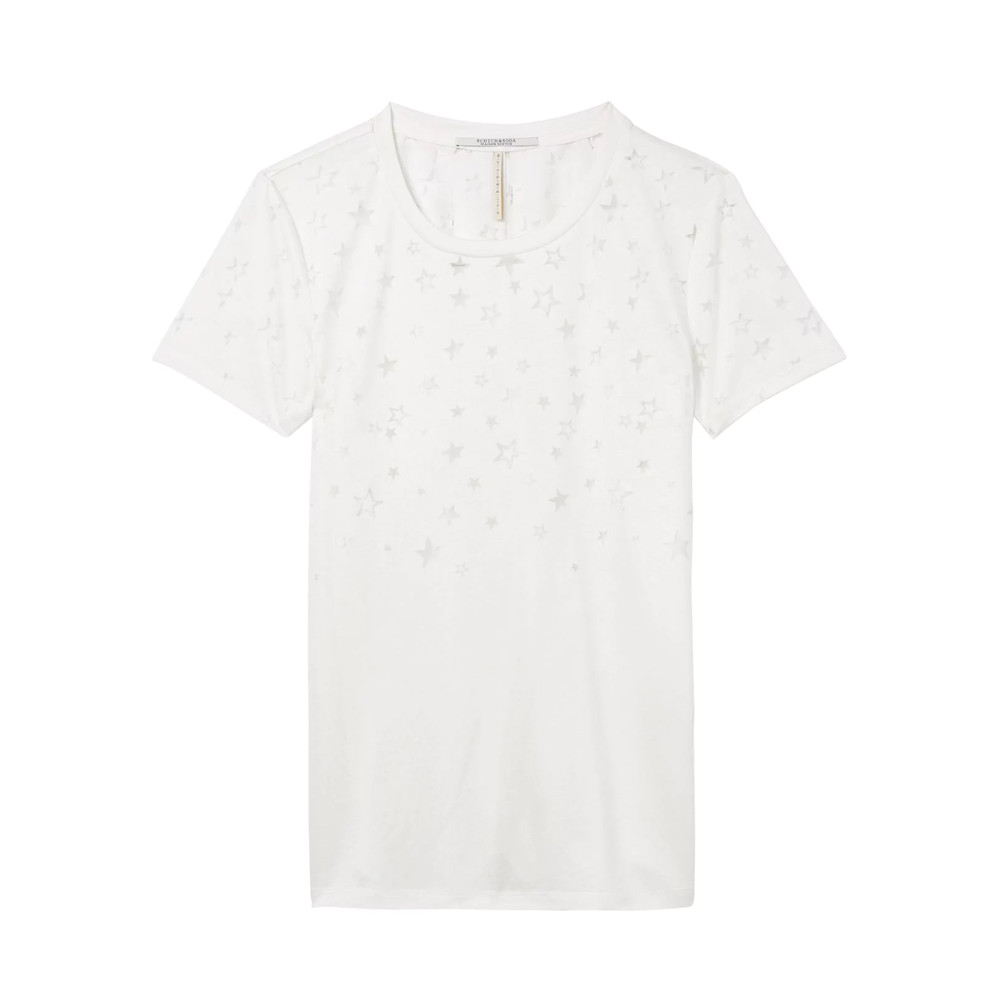 Burn Out Star Tee - Off White