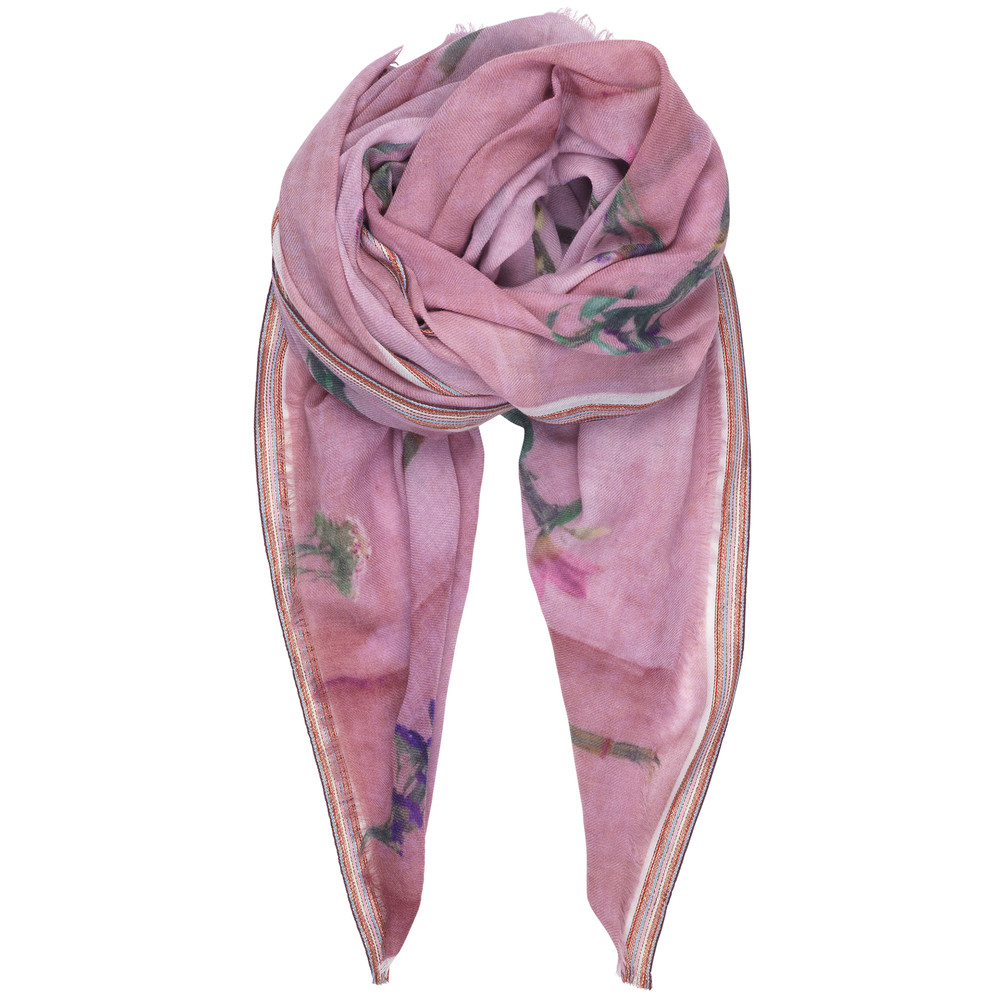 Gwen Wool Scarf - Rose