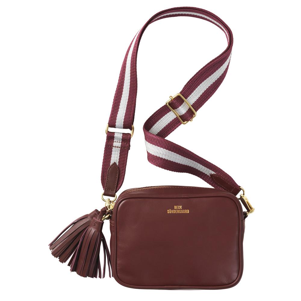 Lullo Rua Leather Bag - Syrah