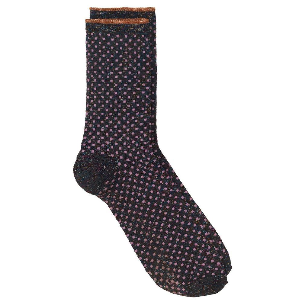 Dina Small Dots Socks - Fuschia Pink