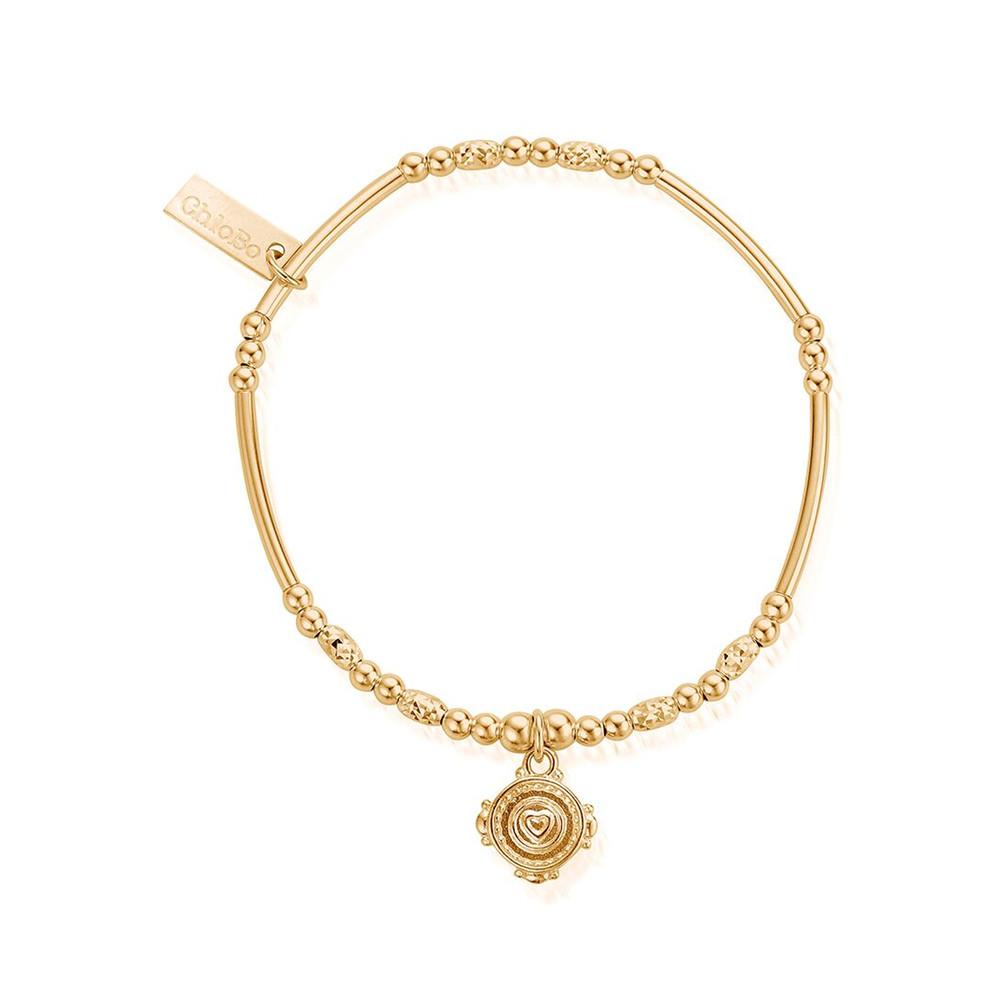 Ariella Love Coin Bracelet - Gold
