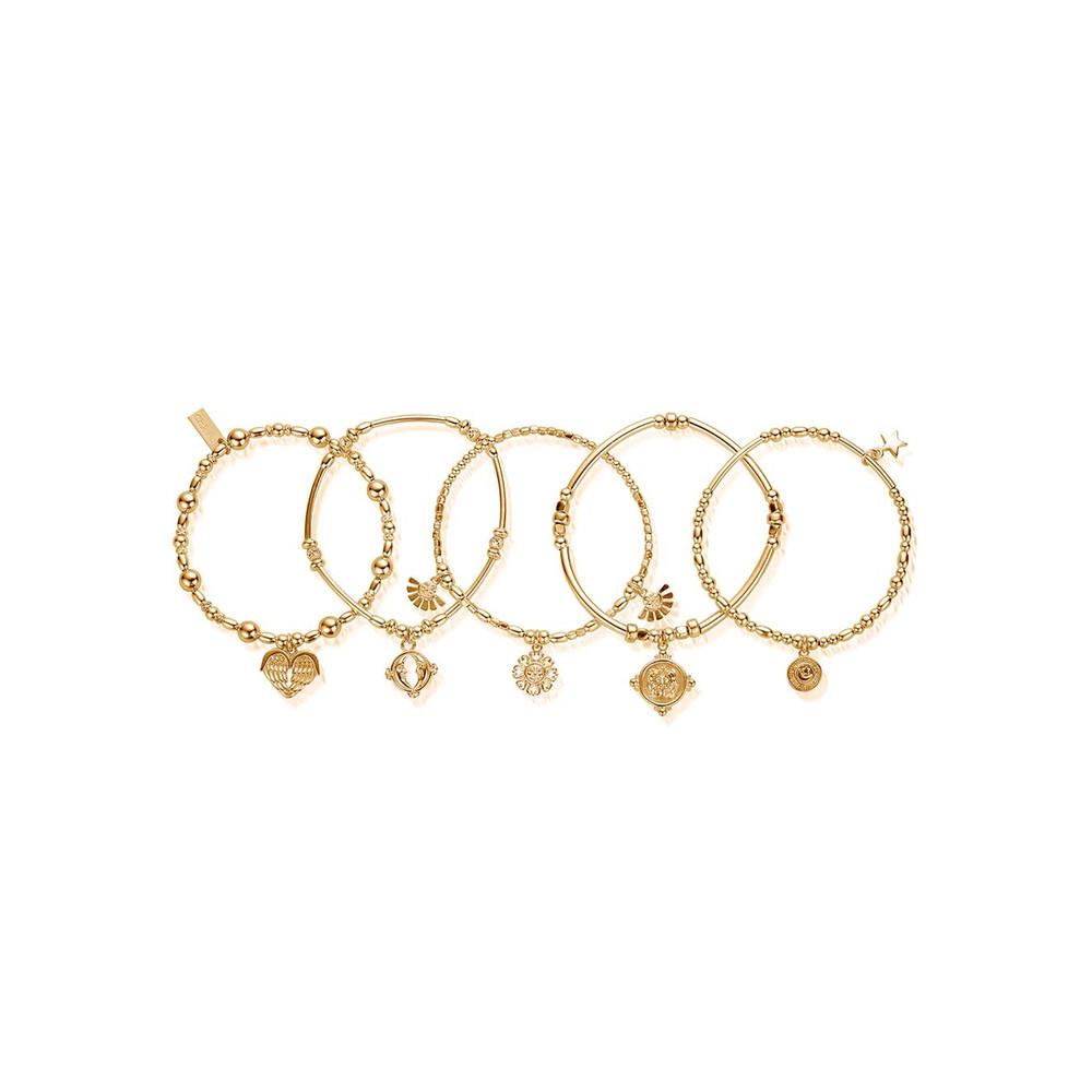 Ariella Stack of 5 Bracelets - Gold