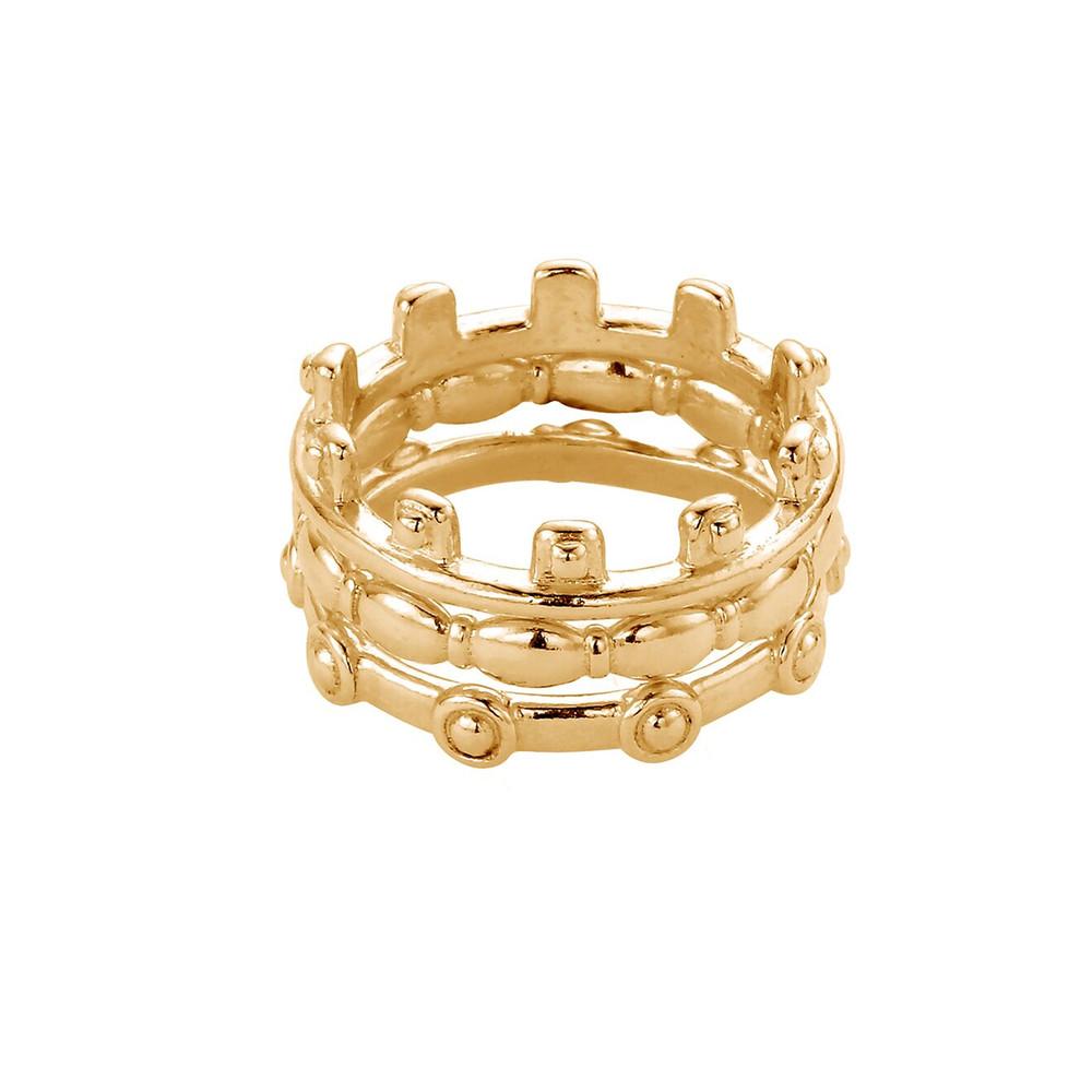 Ariella Aura Ring Stack - Gold