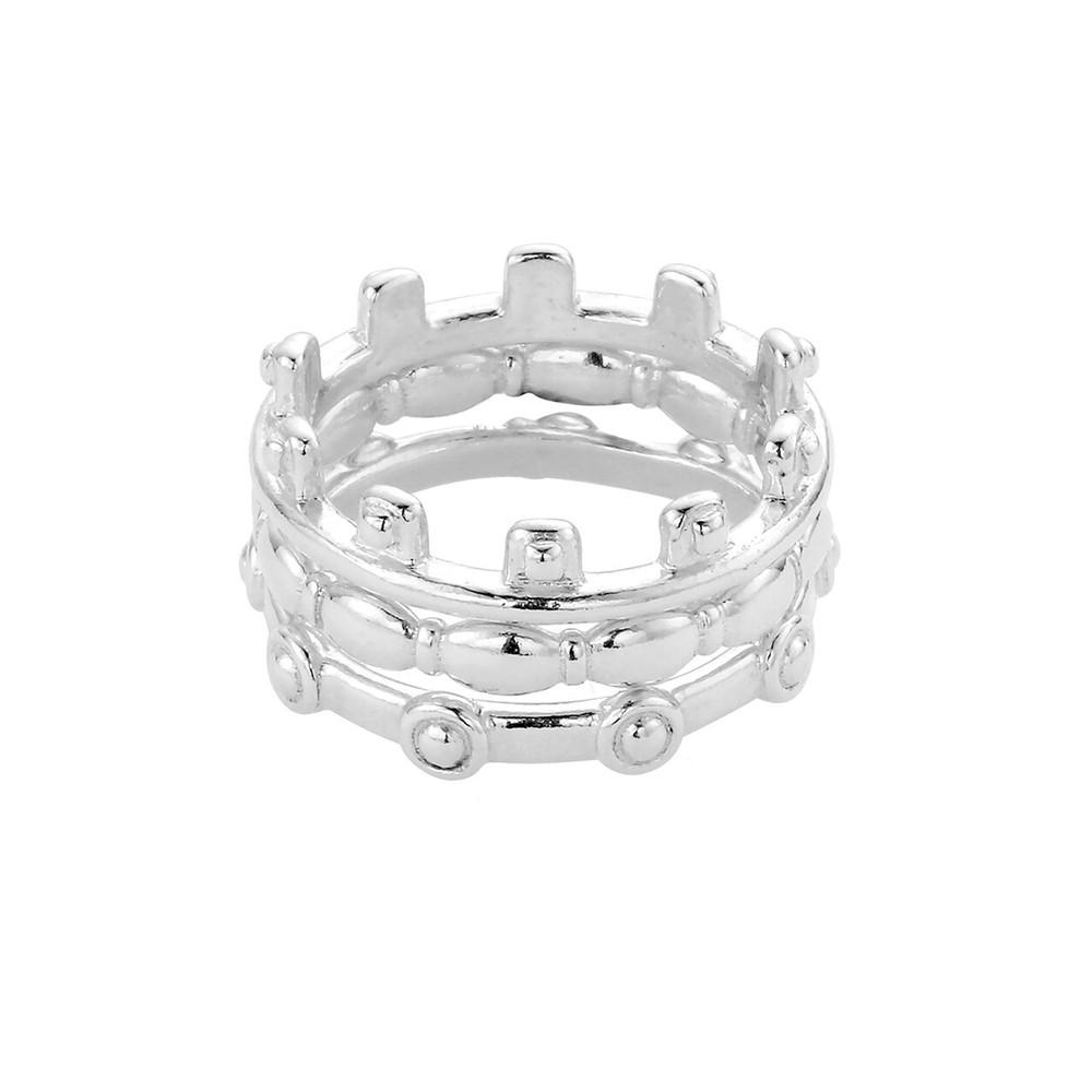 Ariella Aura Ring Stack - Silver