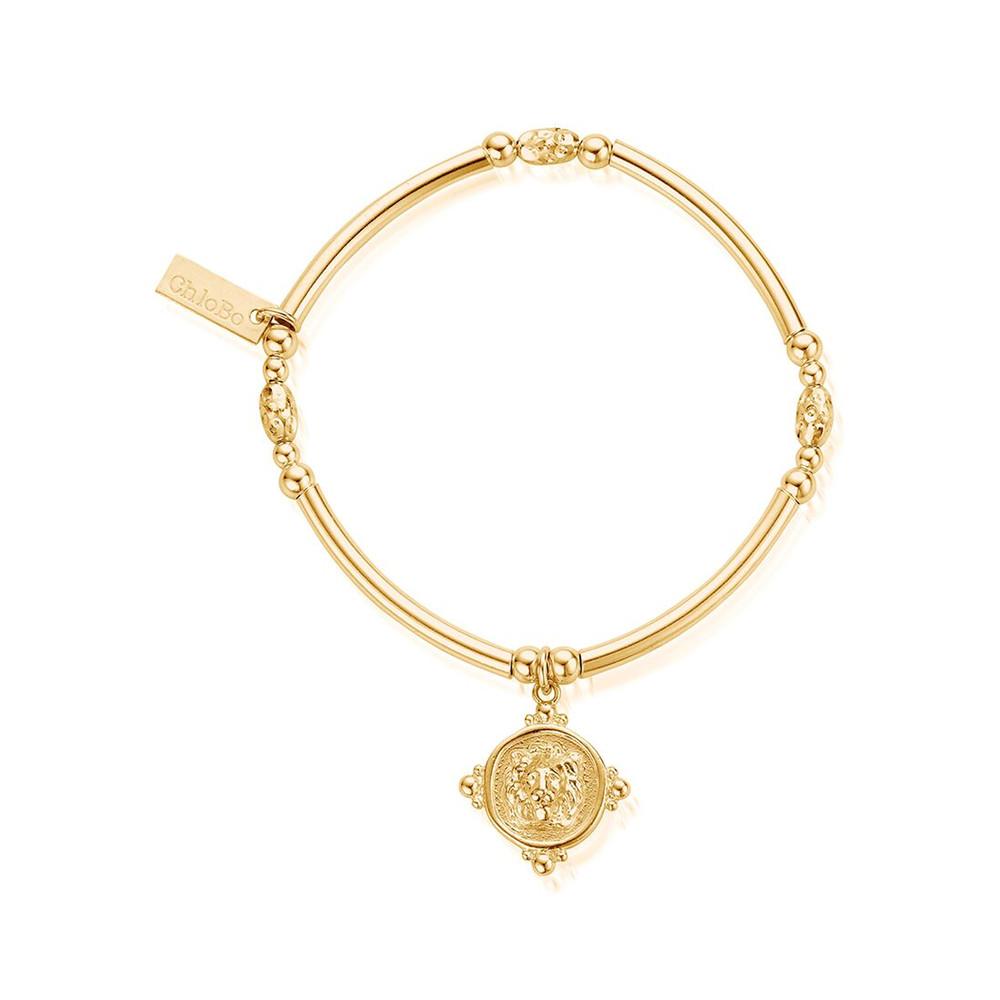Ariella Lioness Signet Bracelet - Gold