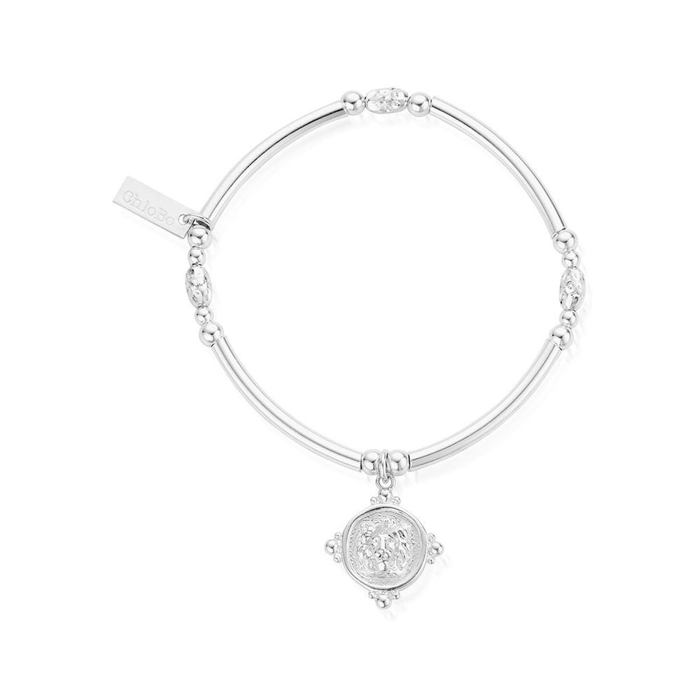 Ariella Lioness Signet Bracelet - Silver