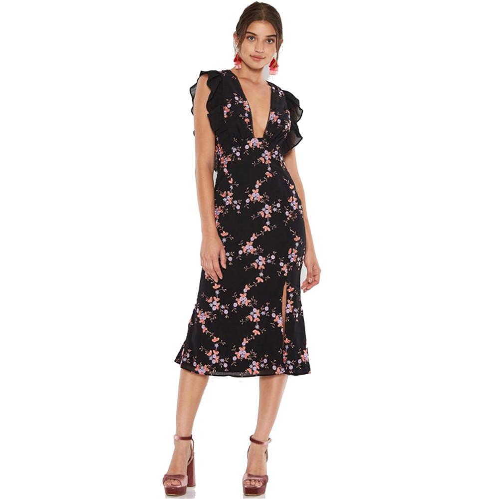 Seguro Midi Dress - Black Multi