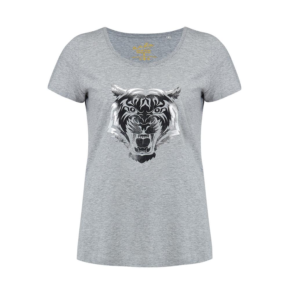 Tiger Tee - Grey & Silver