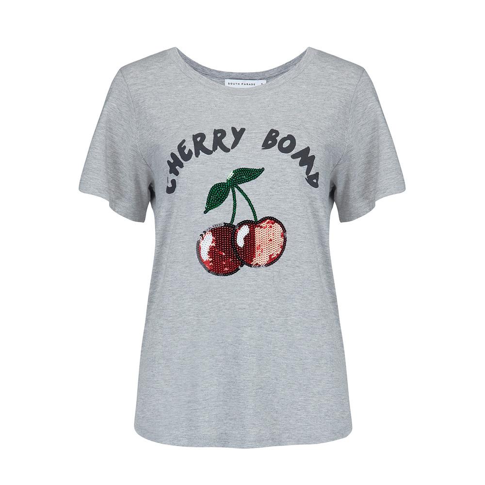 Lola Cherry Bomb T-Shirt - Heather Grey