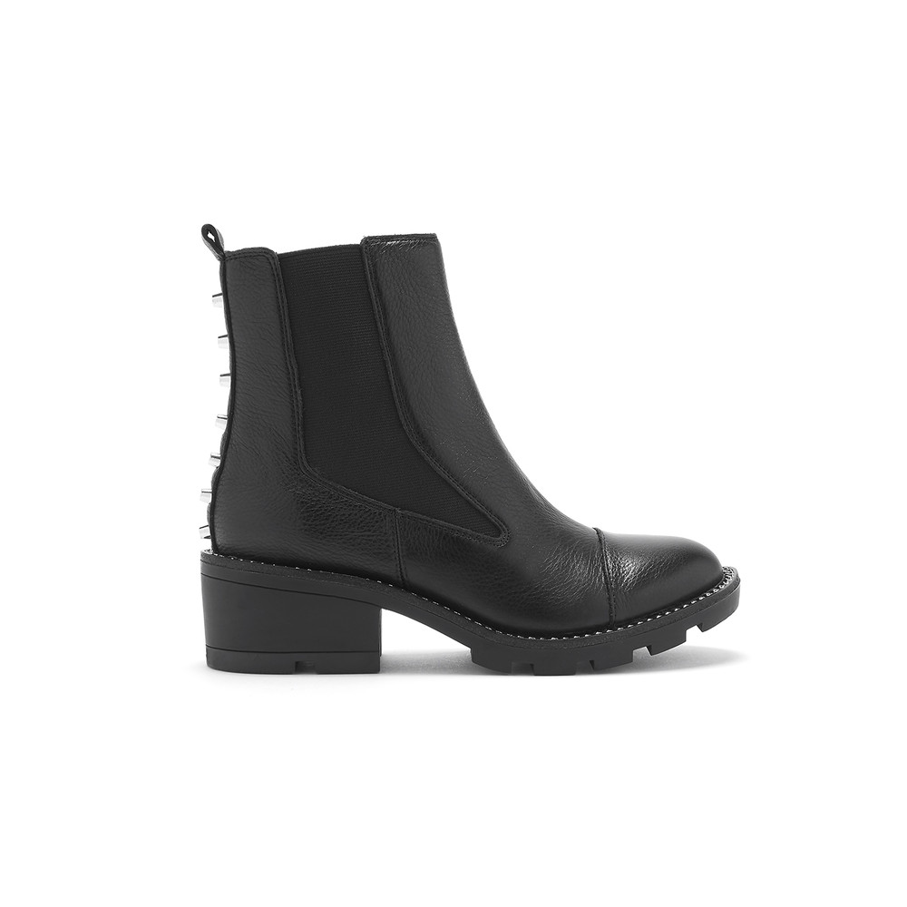 Port Chunky Leather Boot - Black