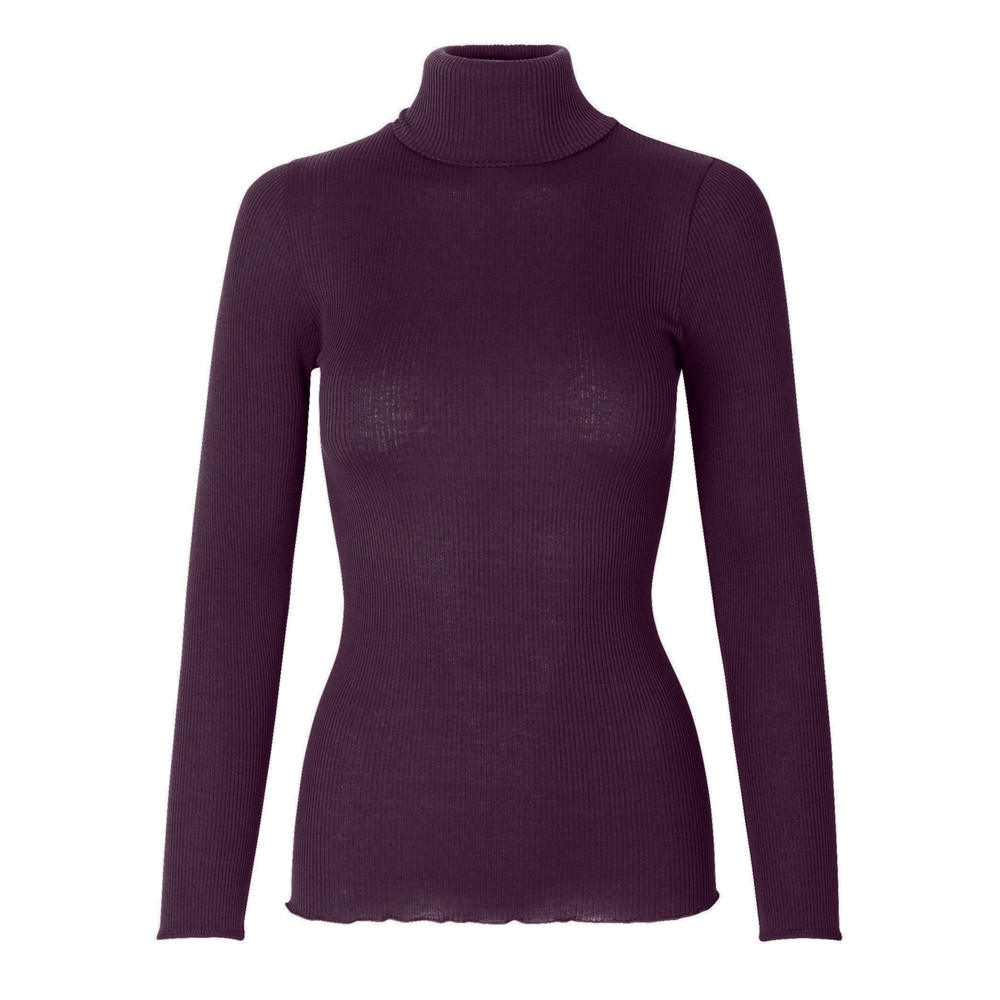 Babette Polo Neck Top - Bourgogne