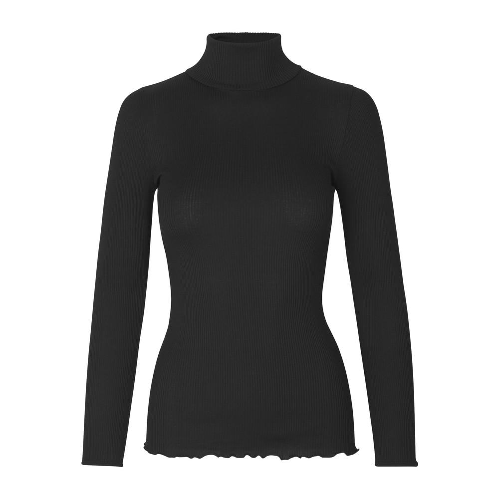 Babette Polo Neck Top - Black