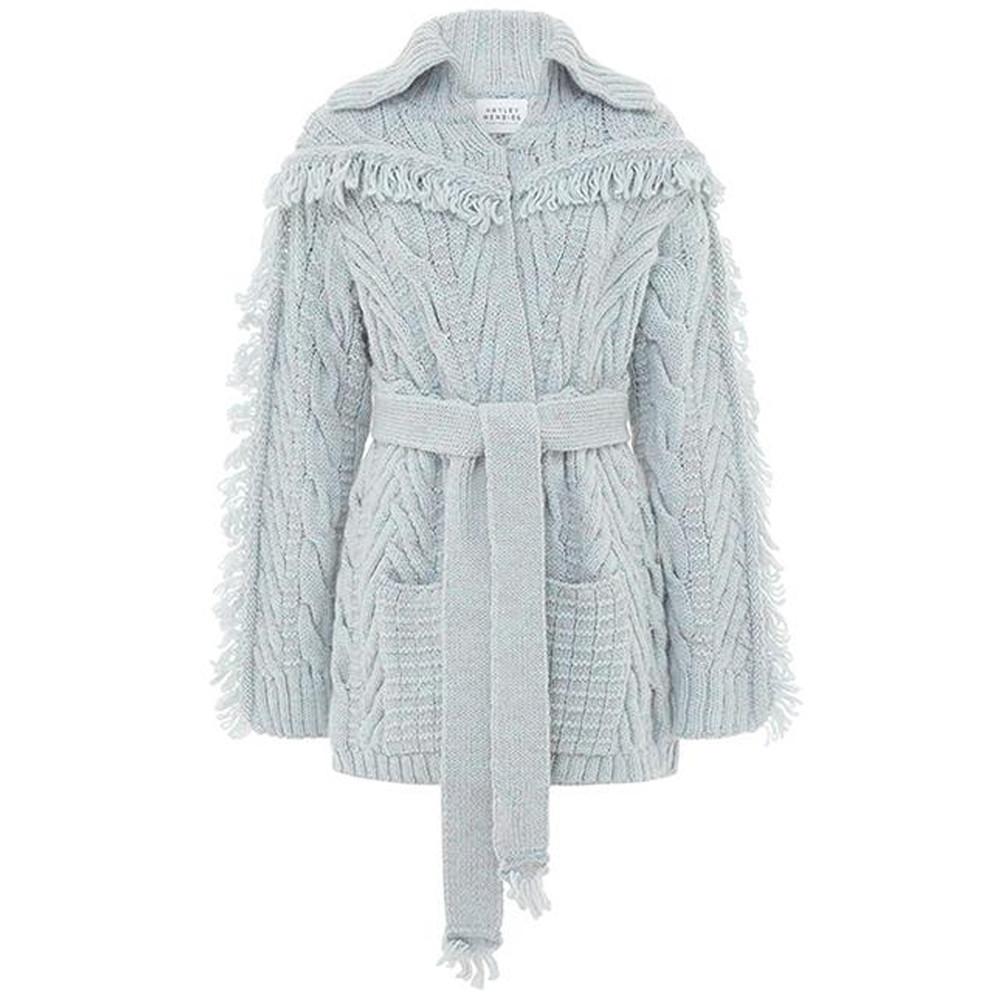 Etta Short Knitted Cardigan - Ice