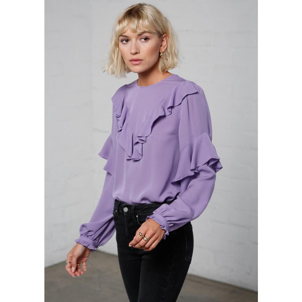 Vivianne Silk Blouse - Violet