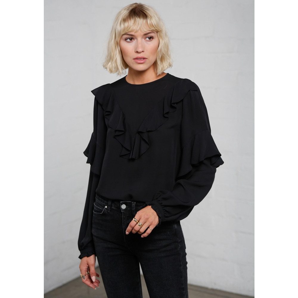 Vivianne Silk Blouse - Black