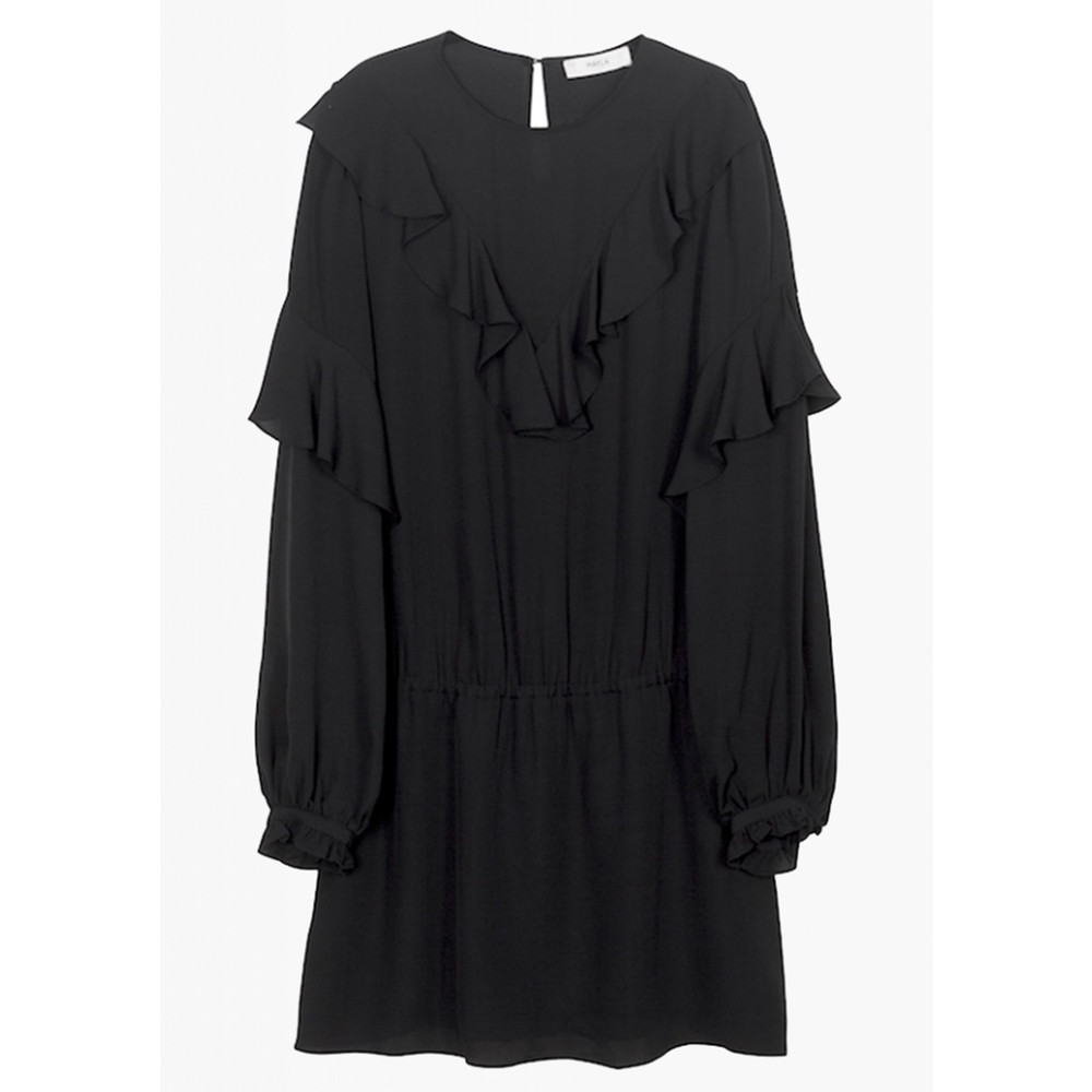 Vivianne Silk Dress - Black