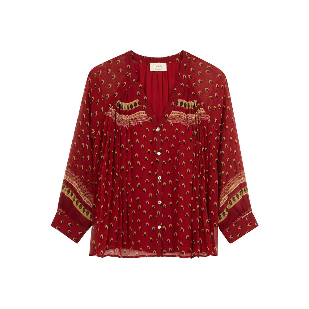 Bird Shirt - Carmine