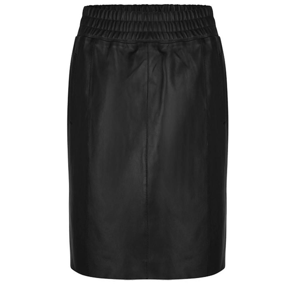 Eshvi Leather Skirt - Raven