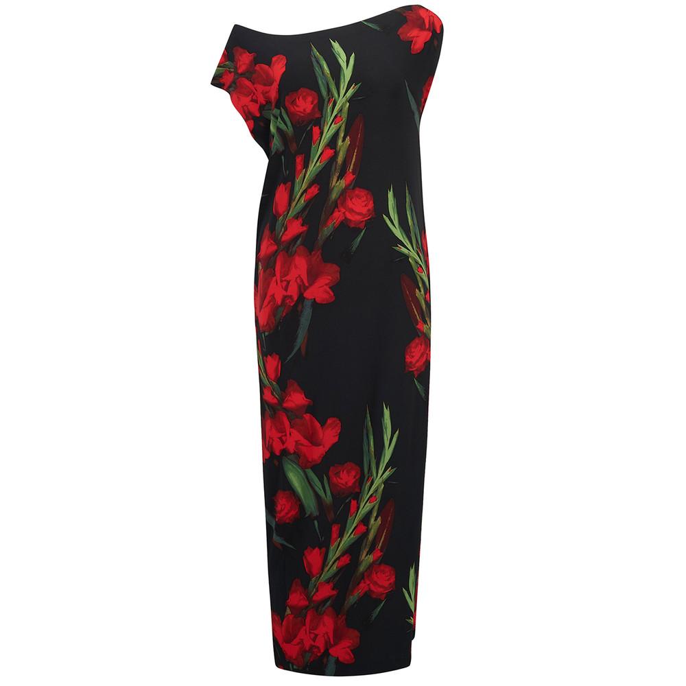 Drop Shoulder Midi Dress - Bloom Roses