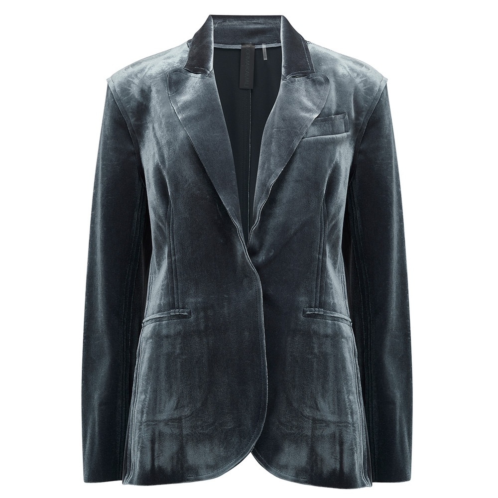 Single Breasted Blazer - Pewter