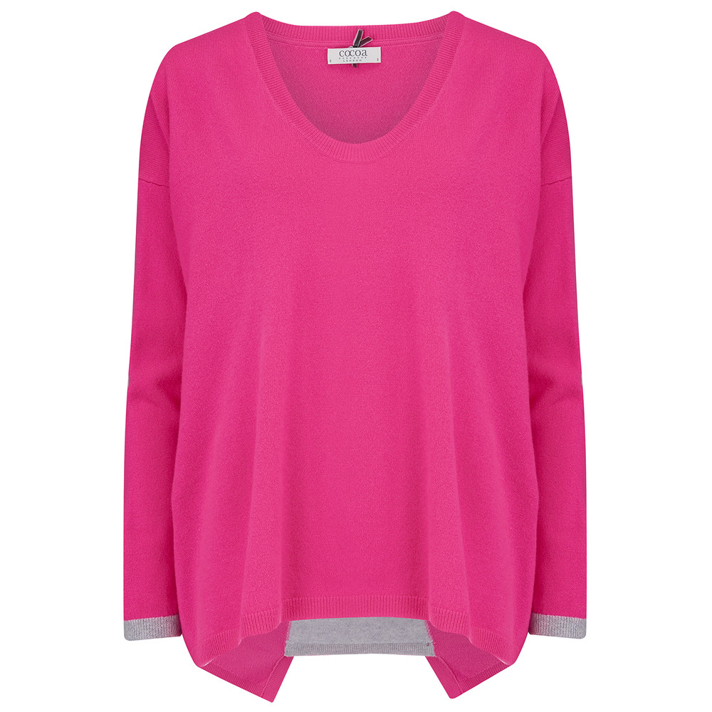 Colour Block Insert Pullover - Dayglow & Grey