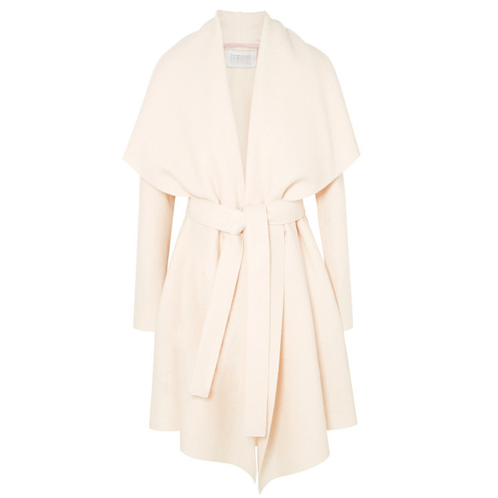 Blanket Belted Coat - Off White