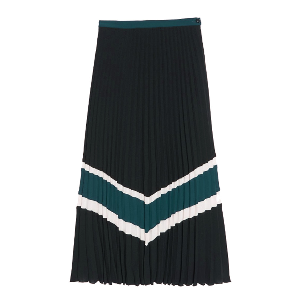 Quietsche Pleated Skirt - Black