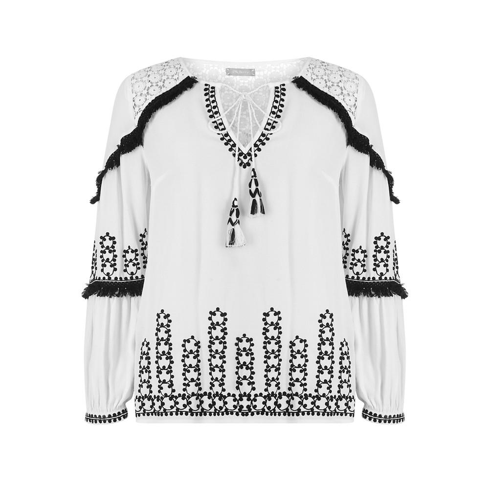 Amrita Embroidered Blouse - Cream