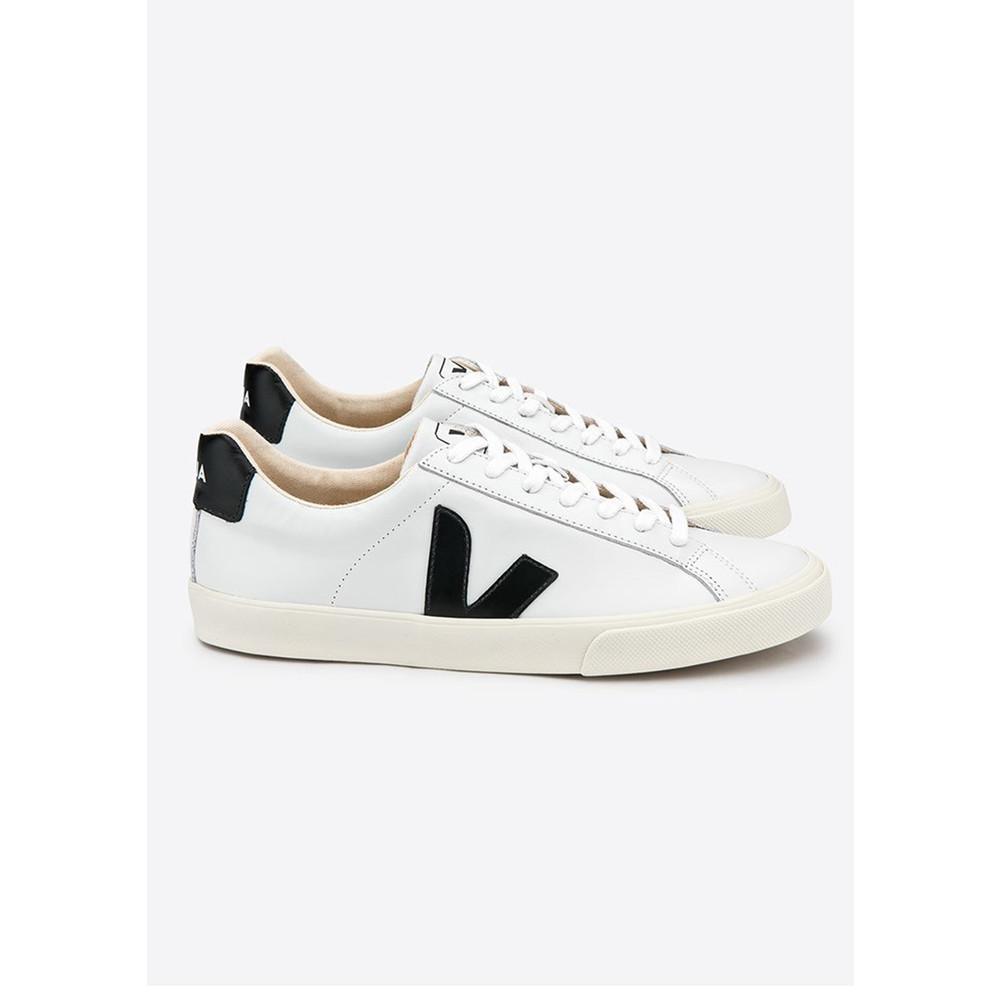 Esplar Leather Trainers - Extra White & Black
