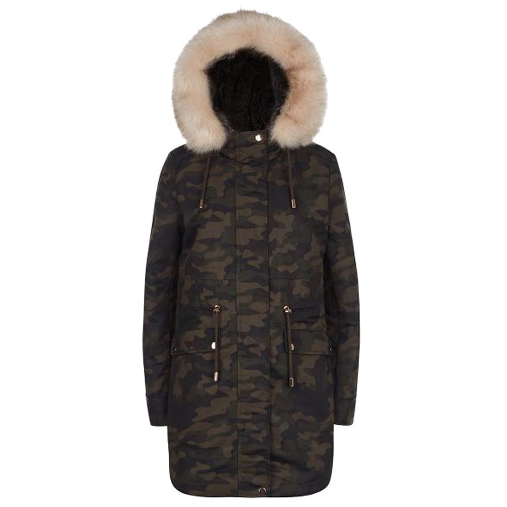 Caversham Faux Fur Lined Parka - Camo