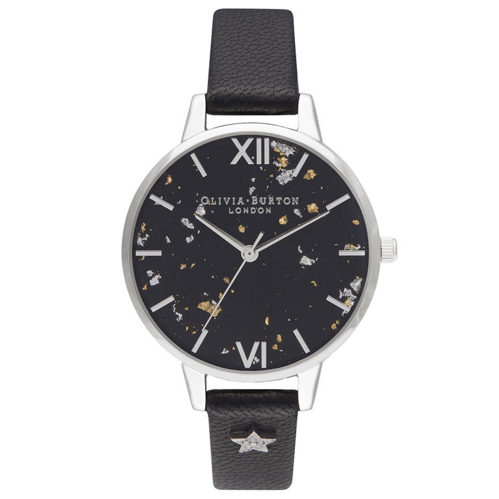 Celestial Star Demi Dial Watch - Black & Silver