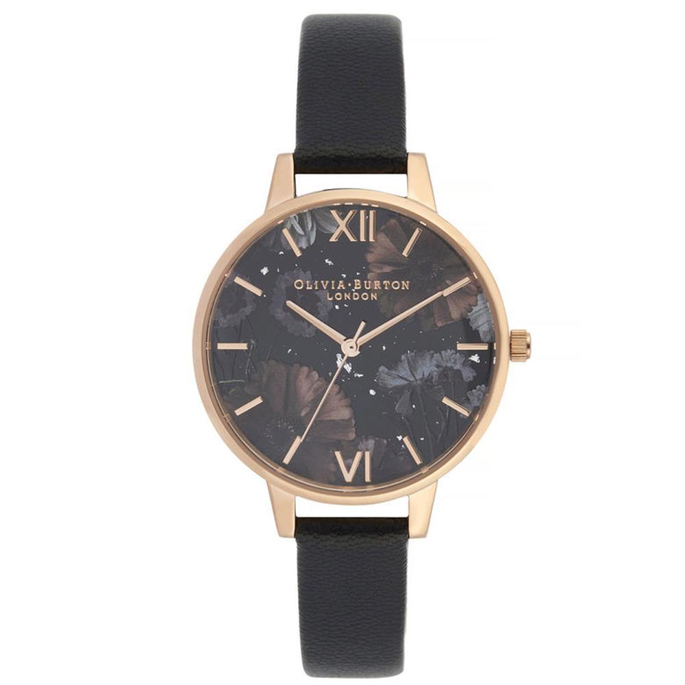 Celestial Demi Dial Watch - Black & Rose Gold
