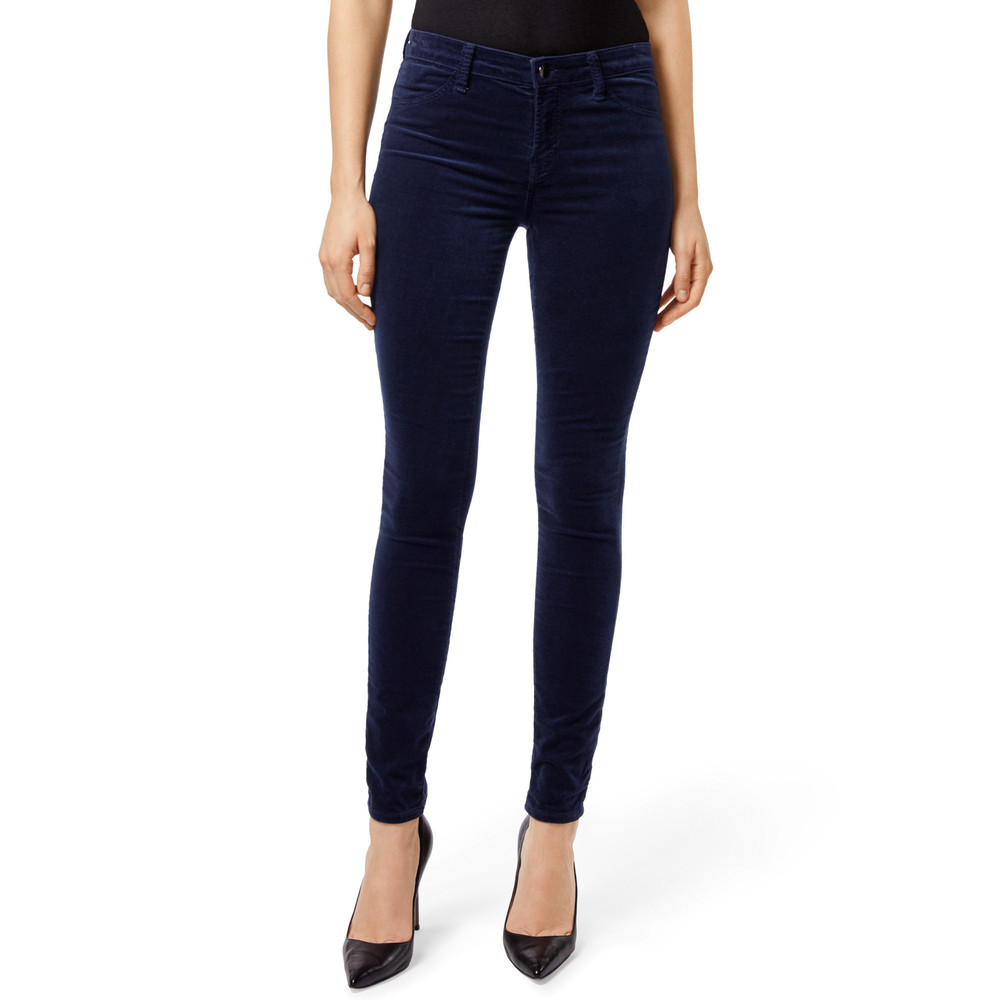 Maria High Rise Velvet Jeans - Night Out