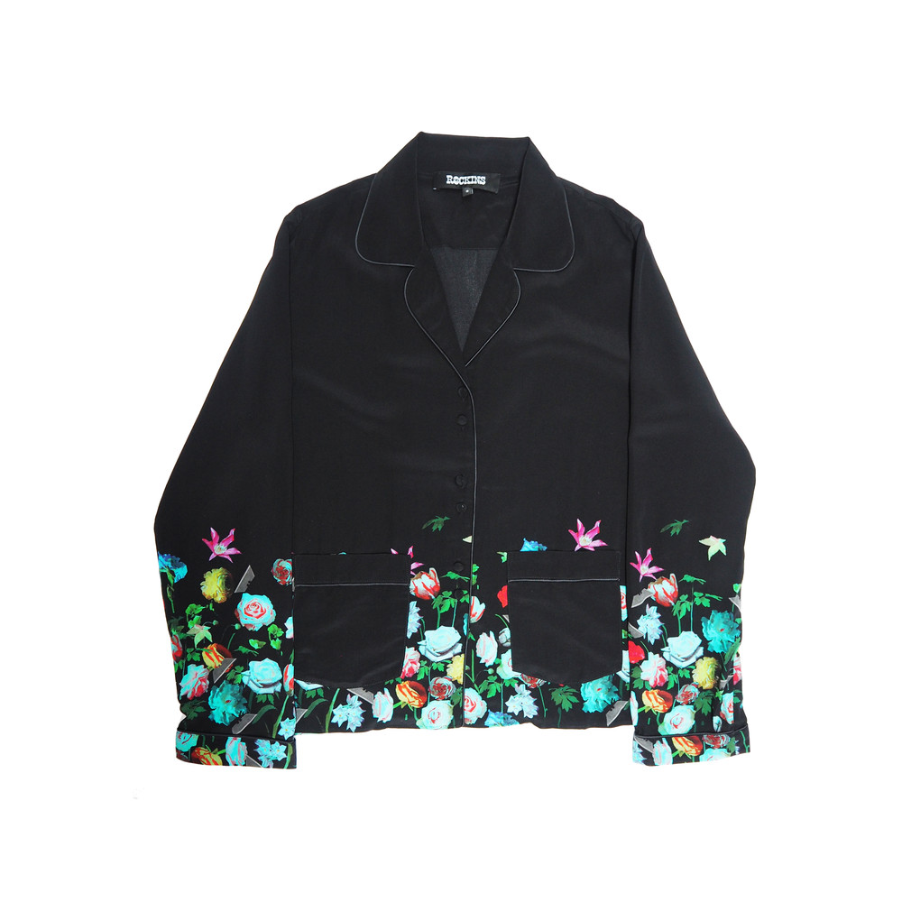 Pyjama Silk Top - Flora 2