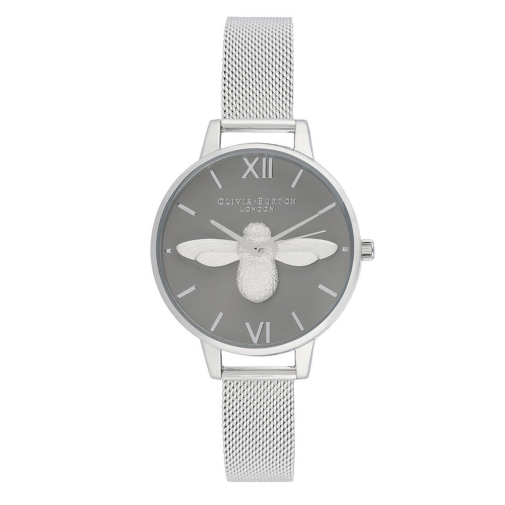 3D Bee Demi Dial Watch - Grey & SIlver