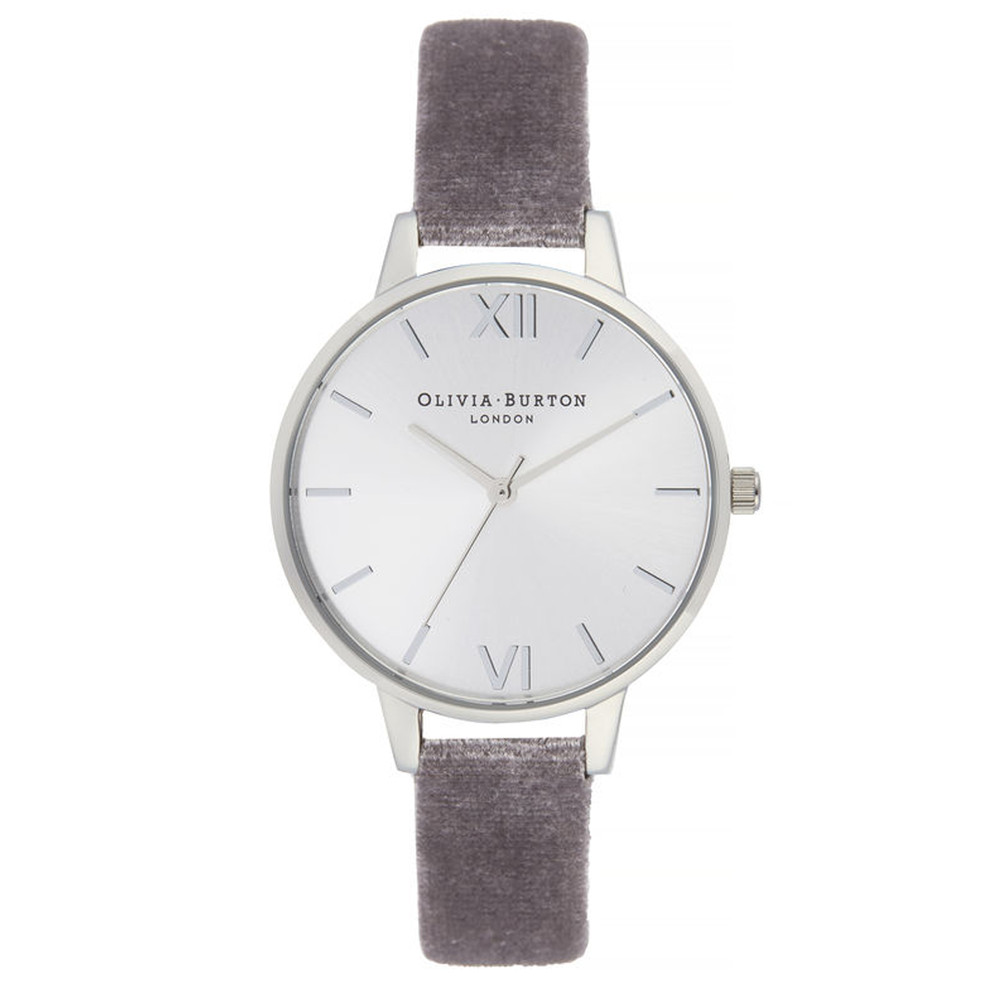 Sunray Demi Dial Watch - Lilac Velvet & Silver
