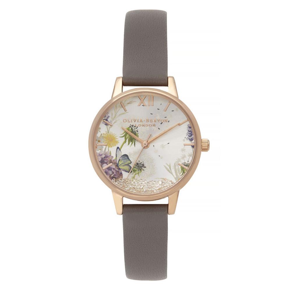 Wishing Watch Midi Dial Watch - London Grey & Rose Gold