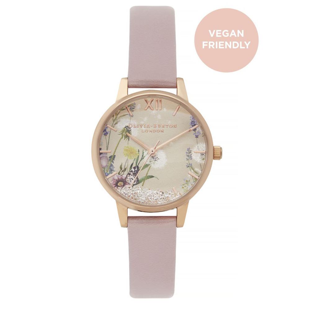 Vegan Friendly Wishing Watch Midi Dial Watch - Rose Sand & Rose Gold