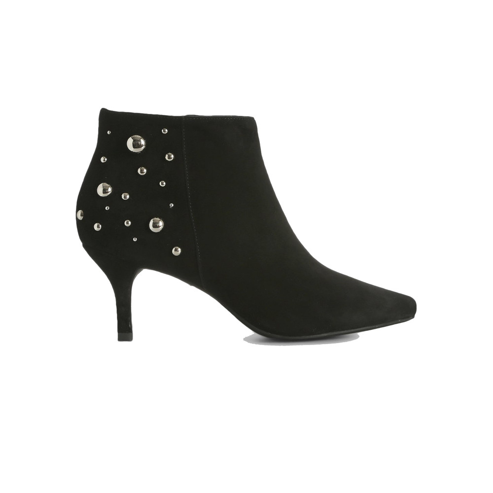 Agnete Studded Ankle Heel Boot - Black