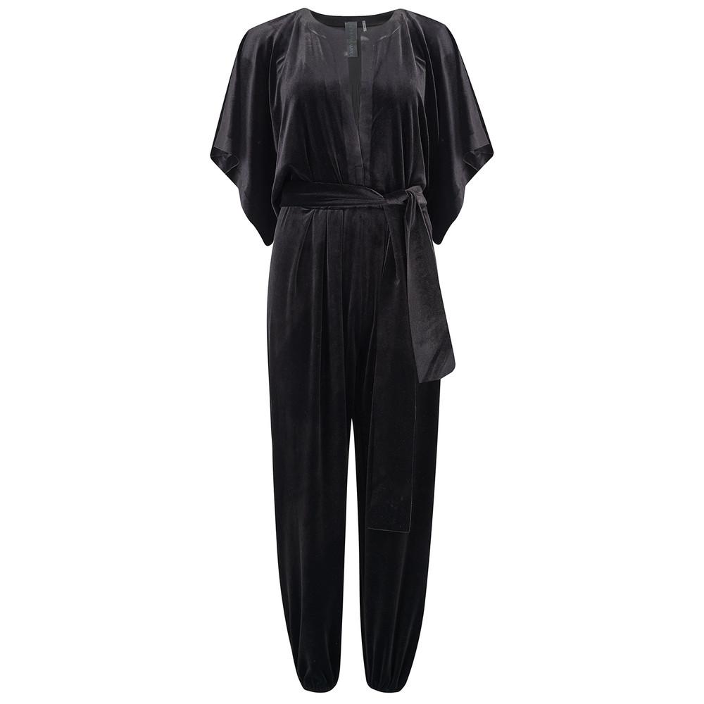 Rectangle Velvet Jumpsuit - Black